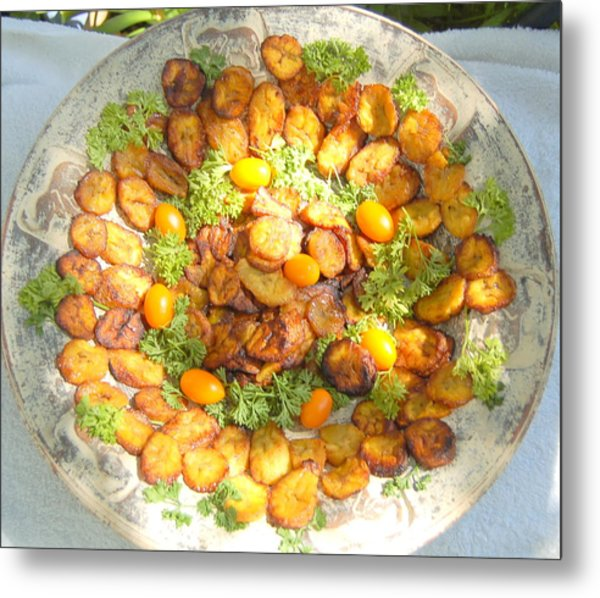 Plantain Chips Metal Print