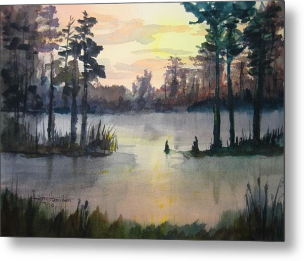 Plaquemines Parish Louisiana Sunset Metal Print