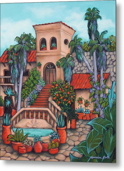 Plaza Jardin Metal Print by Lorraine Klotz