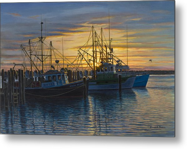 Point Judith Sunset Metal Print by Bruce Dumas