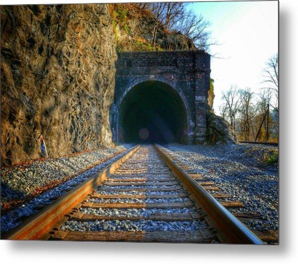Point Of Rocks Train Tunnel Metal Print