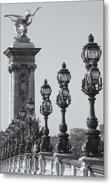 Pont Alexander IIi Detail Bw Metal Print