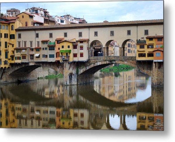 Ponte Vecchio Reflects. Metal Print