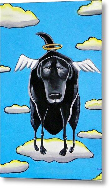 Poo Dog Goes To Heaven Metal Print by Rhondda Saunders