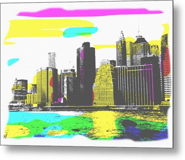 Pop City Skyline Metal Print