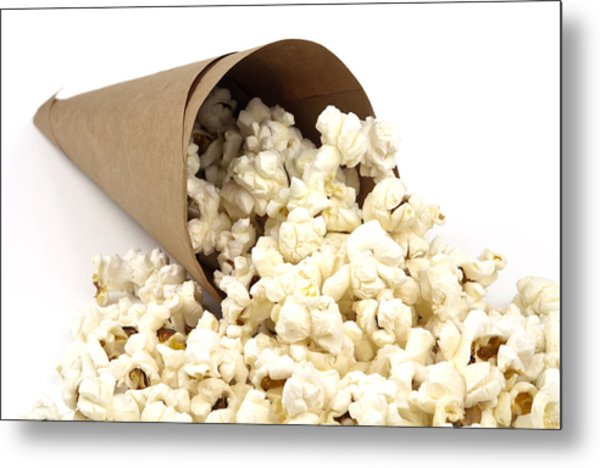 Popcorn In Paper Cone Metal Print by Blink Images
