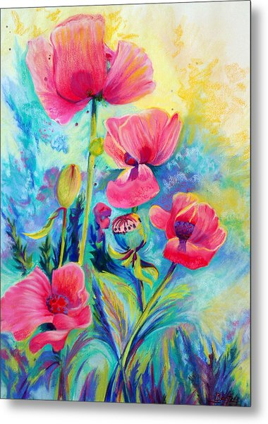 Poppies Metal Print by Bente Hansen