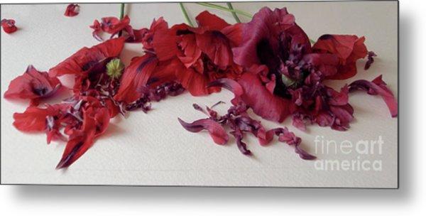 Poppies Petals Metal Print
