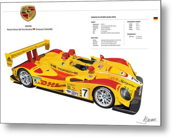 Porsche Poster Rs Spyder Metal Print