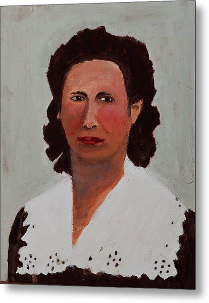 Portrait Of A Woman Metal Print