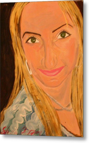 Portrait Of Artists Agnes  Metal Print by Shellie Gustafson