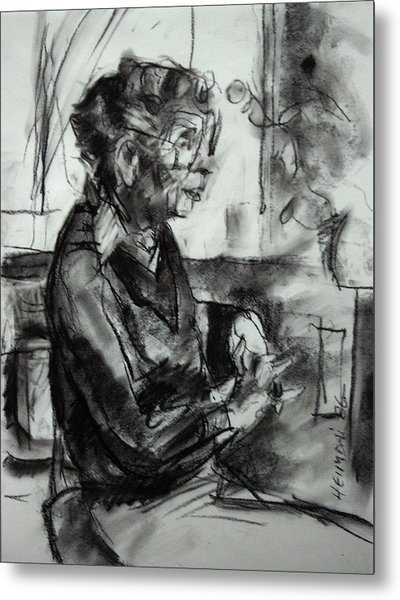 Portrait Sketch Of Euphemia Mcnaught Metal Print