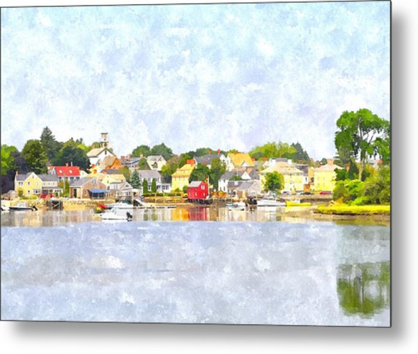 Portsmouth Nh South End Psewc Metal Print