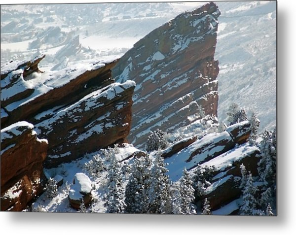 Powdered Red Rocks Metal Print