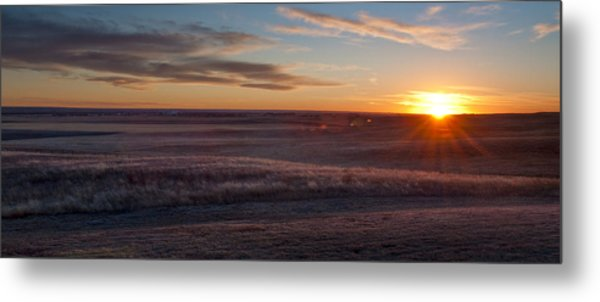 Prairie Sunset Metal Print