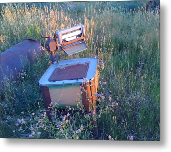 Prairie Washtub Metal Print by Louis Bergsagel