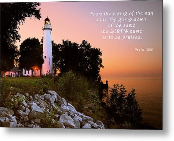 Praise His Name Psalm 113 Metal Print