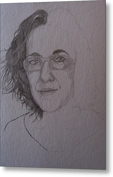 Pre Sketch For Clare Pencil Metal Print by Ray Agius