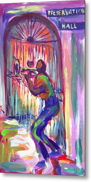 Preservation Hall New Orleans Metal Print by Saundra Bolen Samuel