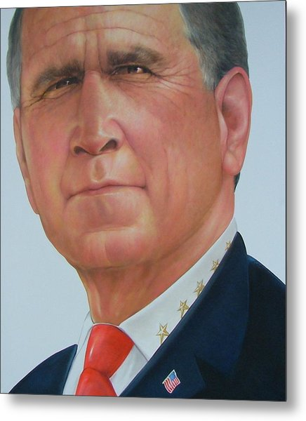 President George W. Bush Metal Print by Gary Kaemmer