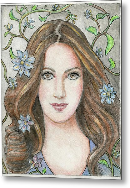 Princess Blue Metal Print