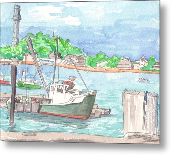 Provincetown Dock Metal Print by E Gibbons