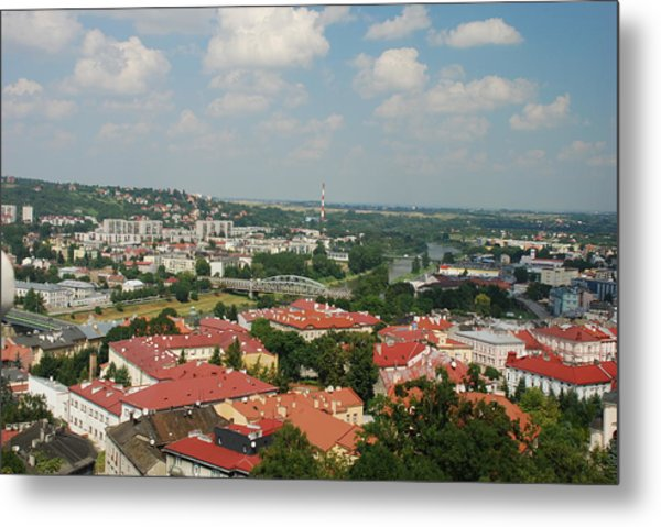Przemsyl And The River San Metal Print by William Thomas
