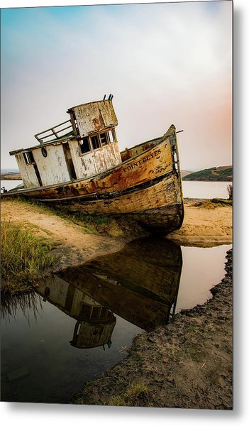 Pt. Reyes Shipwreck 1 Metal Print