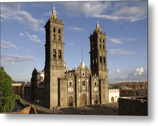 Puebla Cathedral Horizontal Mexico Metal Print