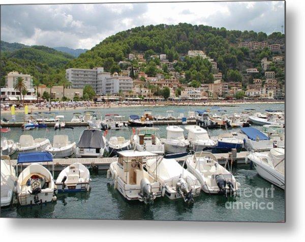 Puerto De Soller In Majorca Metal Print