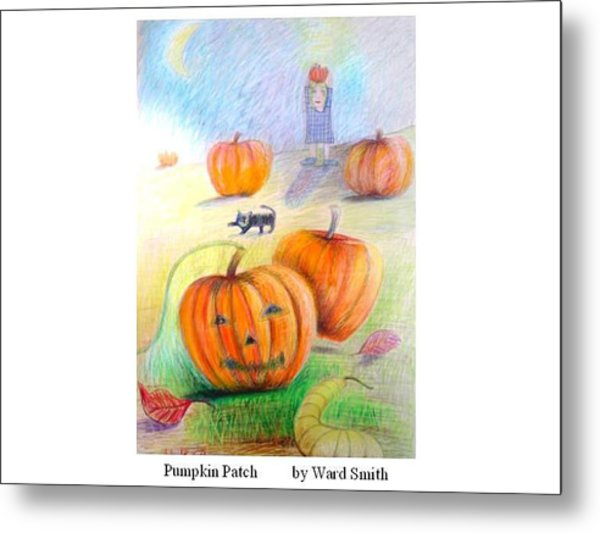 Pumpkin Patch Metal Print by Ward Smith
