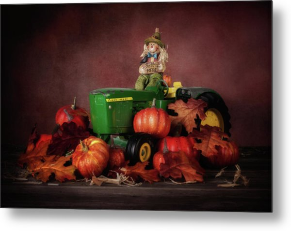 Pumpkin Patch Whimsy Metal Print
