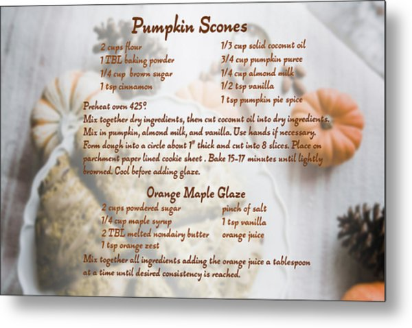 Pumpkin Scones Recipe Metal Print