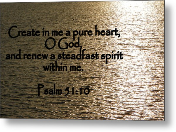 Pure Heart Metal Print