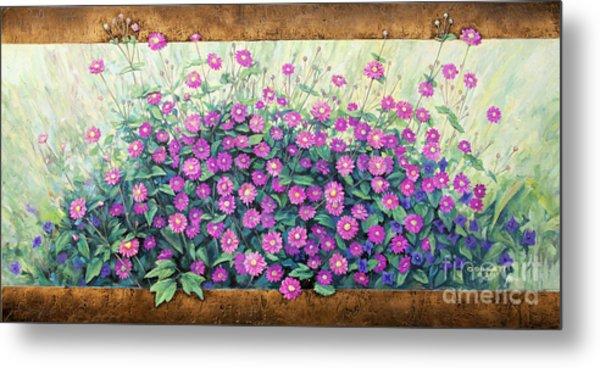 Purple And Pink Flowers Metal Print
