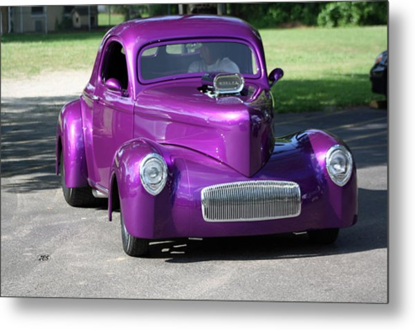 Purple Rod Metal Print by Jim Simms