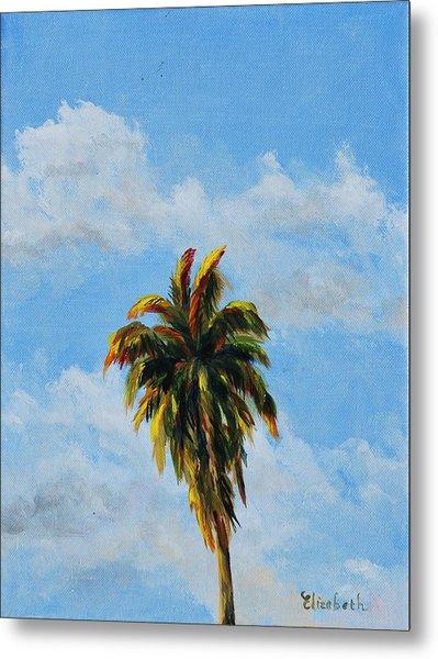 Quad Palms 2 Of 4 Metal Print by Beth Maddox