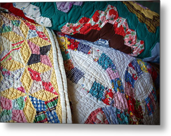 Quilted Comfort Metal Print