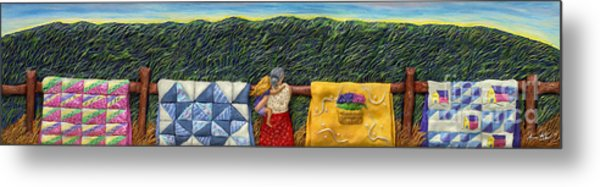 Quilted Harvest Metal Print