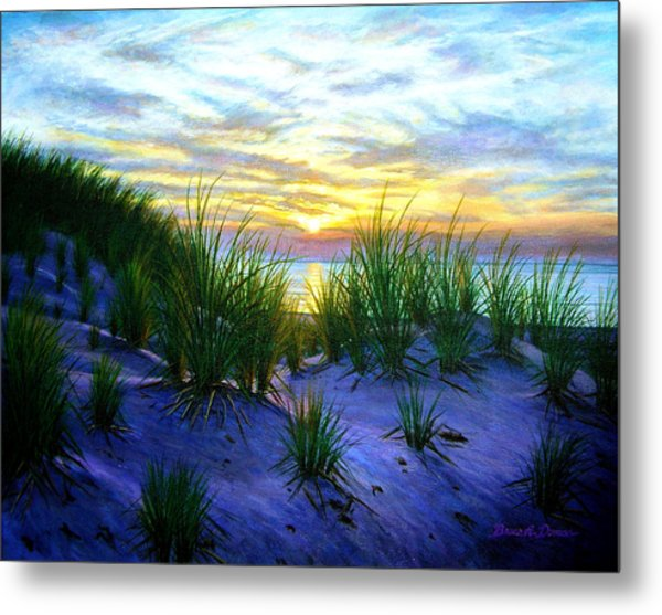 Race Point Dune Sunset Metal Print by Bruce Dumas