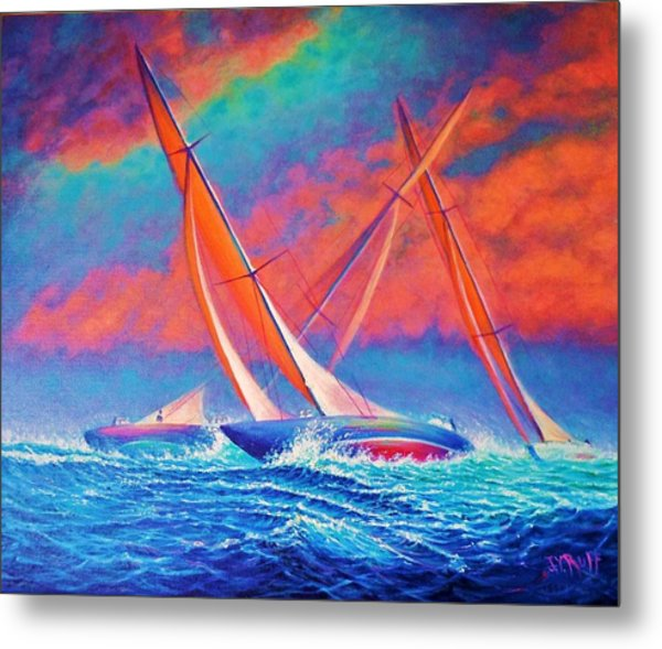 Racing Wedge Metal Print