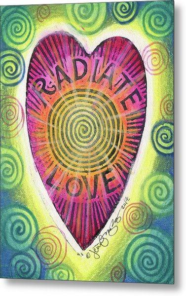Radiate Love Metal Print