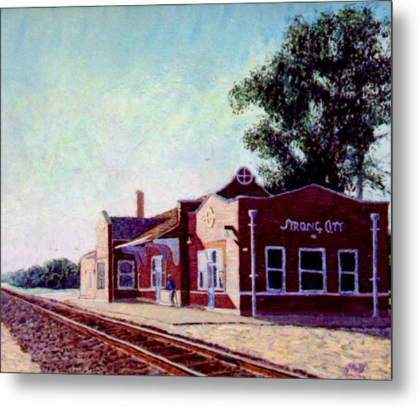 Railroad Station Metal Print
