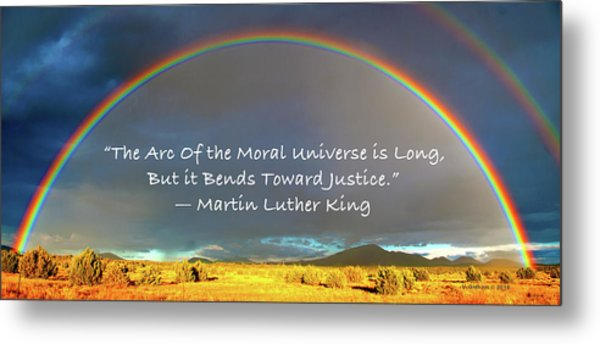 Martin Luther King - Justice Metal Print