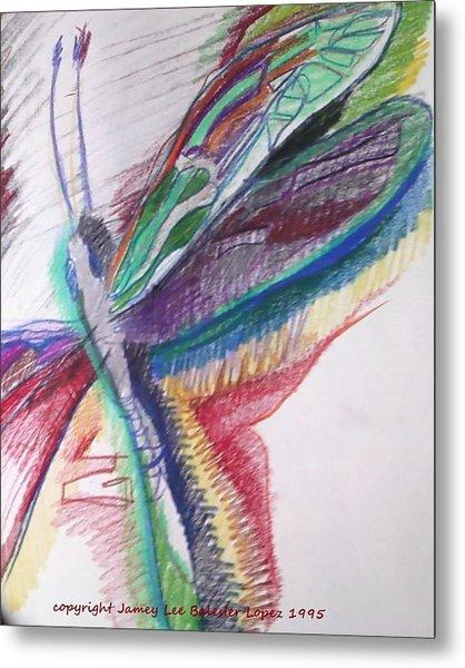 Rainbow Dragonfly Metal Print by Jamey Balester