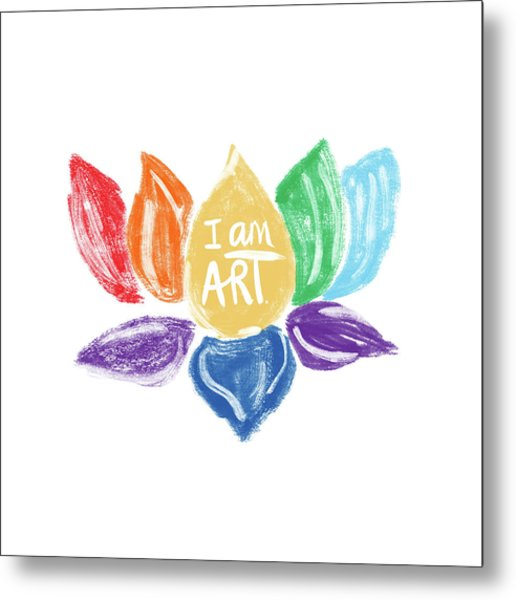 Rainbow Lotus I Am Art- Art By Linda Woods Metal Print