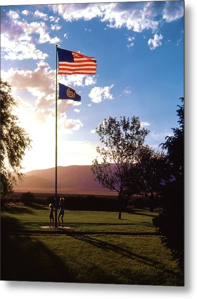 Rally Around The Flag Metal Print