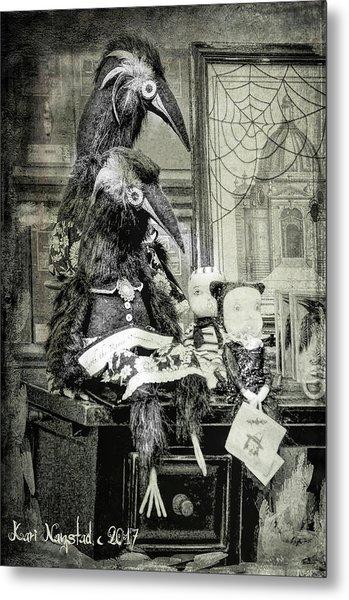 Ravens For Halloween Metal Print