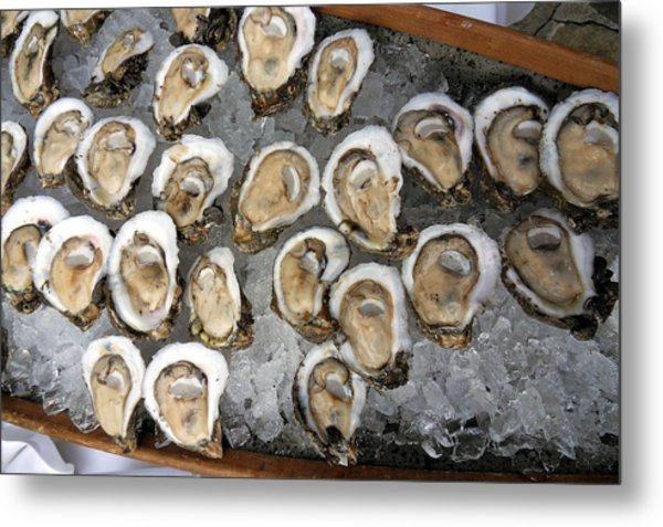 Raw Oysters On Ice Photograph By Sean Gautreaux