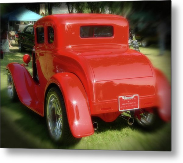 Red - Many Parts - Hot Rod Metal Print